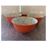 (16) Orange Pattern Soup Cups