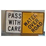 (2) Metal Road Signs