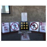Assortment Of Metal Street Warning Signs