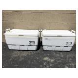 (2) White Igloo Coolers
