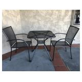 Metal Patio Table With 2 Chairs