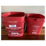(2) Large & (2) Small Sanitizing Buckets