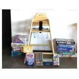 High Chair & Large Assortment Of Games & Cards