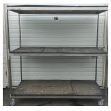 Large 3 Shelf Cart Rack On Casters
