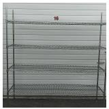 4 Shelf Metal Rack