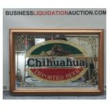 Chihuahua Beer Glass Etched Mirror/picture