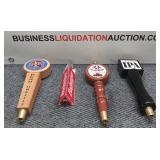 (4) Beer Tap Handles