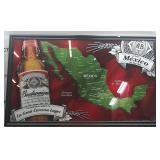 Mexico Themed Glass Etched Budweiser Framed Art
