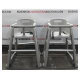 (2) Restaurant High Chairs On Wheels