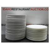 38 Glass Restaurant Plates