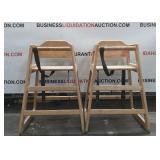 (2) Restaurant High Chairs