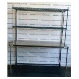 Stainless Steel Table W Shelves