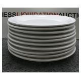10 Glass Restaurant Plates