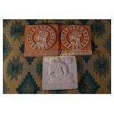 Vintage Mayan Pottery - Three Pieces