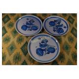 Vintage Mexican Decorative Plates - Three Pieces