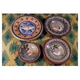 Antique Mexican Decorative Plates - Four Pieces