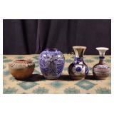 Vintage Mexican & Cuban Pottery - Four Pieces