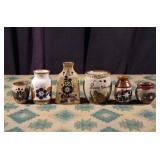 Vintage Mexican Stoneware - Six Pieces