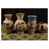 Vintage Mexican Stoneware & Pottery - Four Pieces