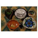 Vintage Mexican Pottery - Five Pieces