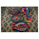 Vintage Mexican Pottery - Five Pieces