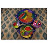 Vintage Mexican Pottery - Four Pieces