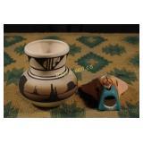 Vintage Navajo Pottery - Two Pieces