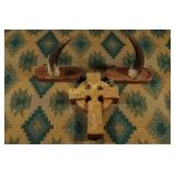 Vintage Celtic Cross (Pottery) & Horn Wall Hangers