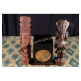 West Coast Box (Native) & Two Wooden Mayan