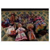 Eight Vintage Dolls