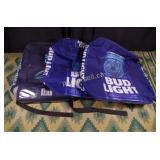 Three Bud Light Backpack Coolers