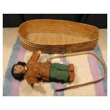 Vintage West Coast Cradleboard & Doll