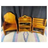 3 Vintage Solid Wood Items