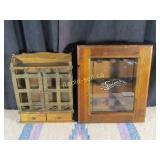 Vintage Spice Rack & Shelf