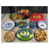 Mexican Plates, Wall Hangers & Bowl