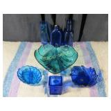 7 Cobalt Glass Items
