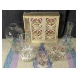 Gourmet Dipping Set & 7 Glass Cups/Containers
