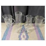 6 Glass Pitchers