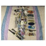 Pins, Brooches, Hair Clips, Rings & Watches