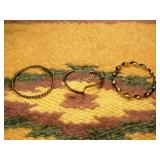 3 Vintage Silver Bracelets