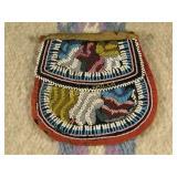 Antique Iroquois Beaded Bag - Circa 1880