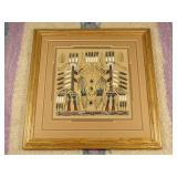 Vintage Mavajo Sand Painting - Kachinas