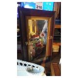 Antique Reverse Mirror Painting