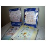 Stamped Cross Stitch Quilt & Crib Cover Kits