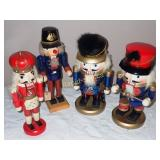 Four Collectible Wooden Nut Crackers