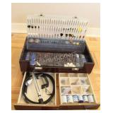 Mastercraft Rotary Tool Accessory Kit in Wood Case
