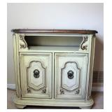 Expandable Side Board Wood Cabinet