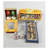Vintage Boxed Nativity Sets & Lamp Candles