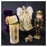 Nutcracker King, Angel, Velvet Wine Boxes