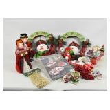 Christmas Decor, Vine Wreaths & Mantel Carolers